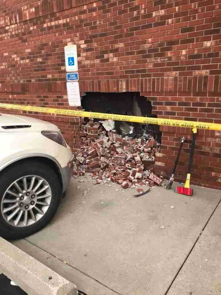 Vehicle into a Building