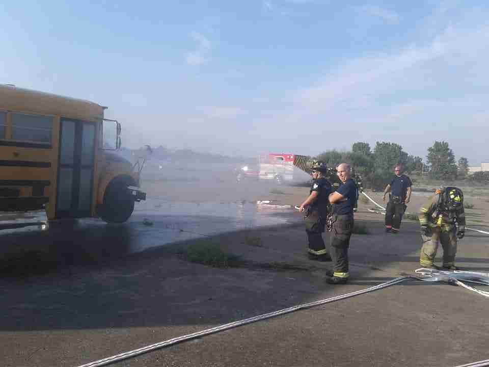 ARFF Training with Airport Fire Department